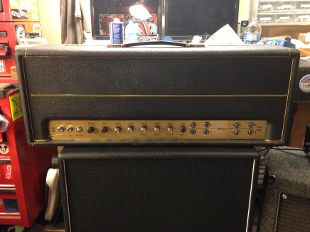 Here we have a very fine mid-1965 Marshall Super PA amplifier reportedly once owned by Pete Townshend of The Who. This amplifier was also reputed to have been used by Jimi Hendrix.